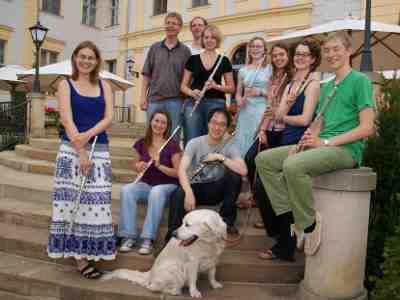 Impressionen: Teilnehmer des Liebenberger Meisterkurses für Querflöte 2011