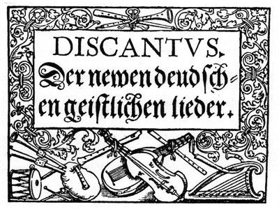 Druck von Georg Rhau, Leipziger Thomaskantor und Verleger in Wittenberg