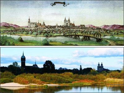 Wittenberg Silhouette 1536 und 2006